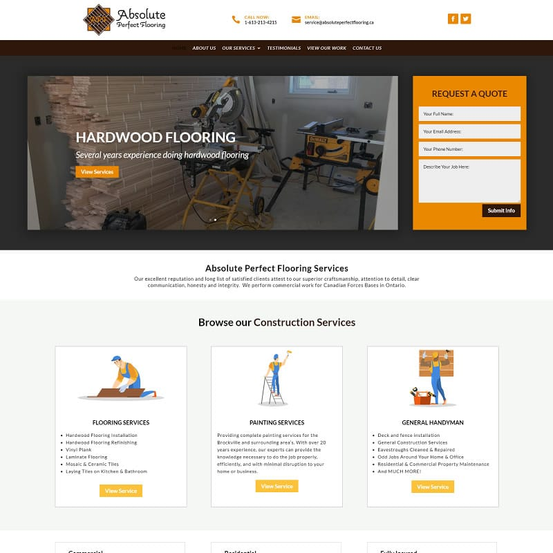 absolute perfect flooring website example